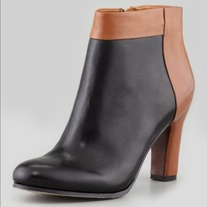 Sam Edelman Shay Two-Tone Leather Bootie Boots 8.5